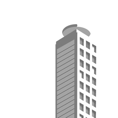 Isometric buildings Skyscraper, cityscape, cityscene. isometric construction Illustration