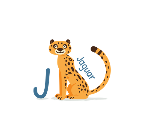 J for Jaguar Illustration