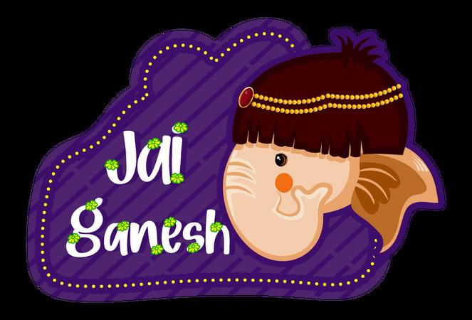 Jai ganesh badge Illustration