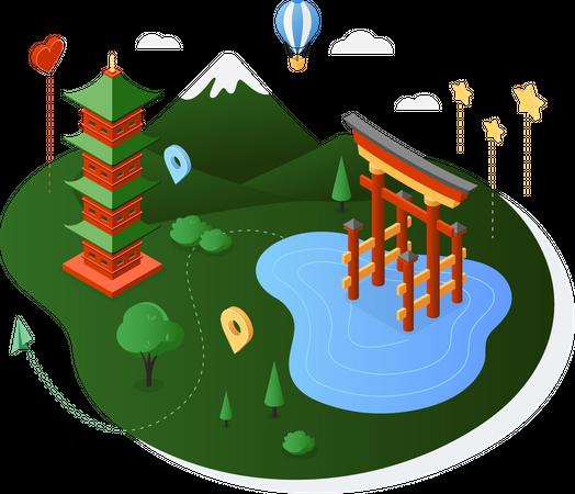Japan Illustration