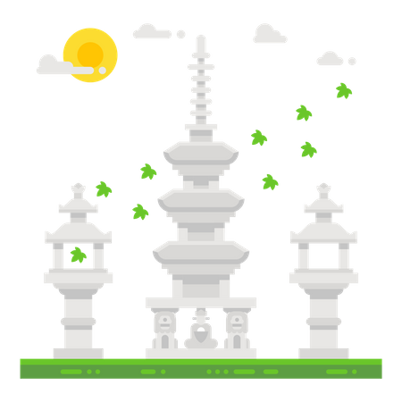 Japan shrine Illustration