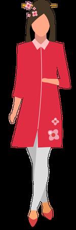 Japanese girl Illustration