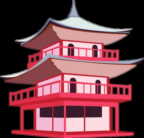 Japanese pagoda Illustration