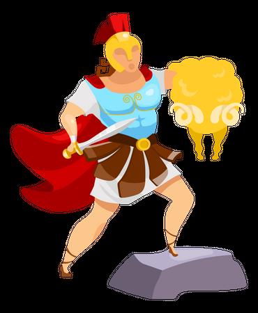 Jason with golden fleece Illustration