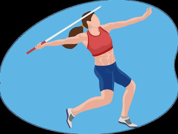 Javelin Throw Illustration