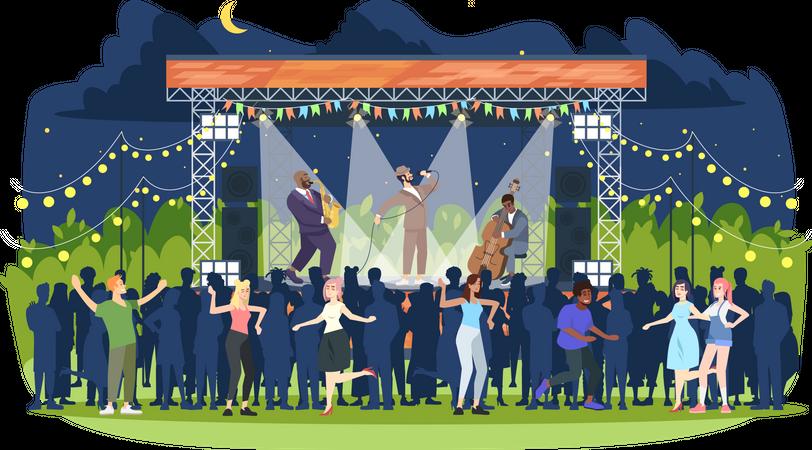 Jazz music festival Illustration