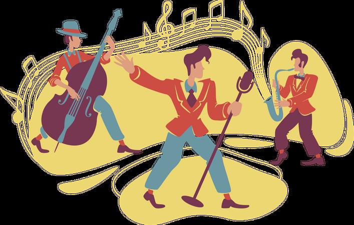 Jazz swing show Illustration