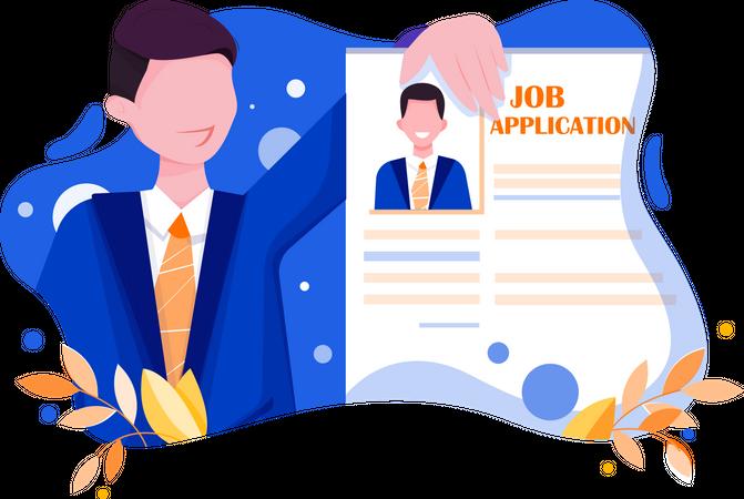 Job application Illustration