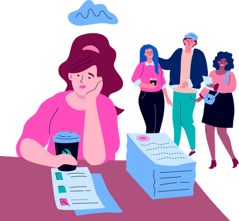 Job burnout Illustration