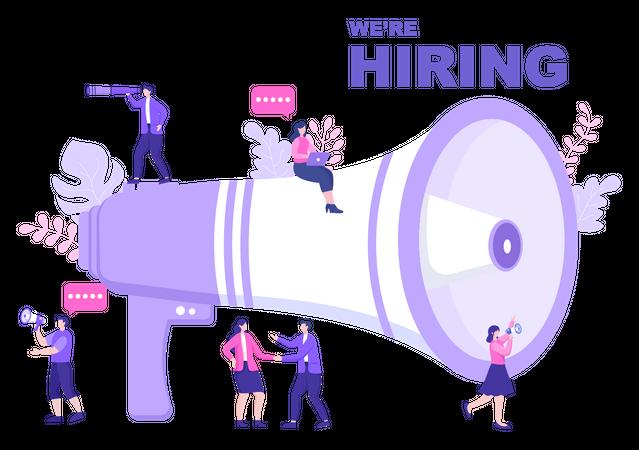 Job Hiring Illustration