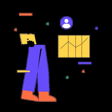 Job profile analysis Illustration