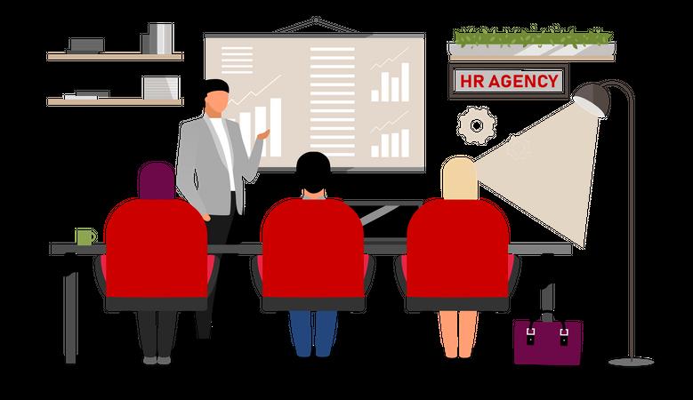 Job search interview Illustration