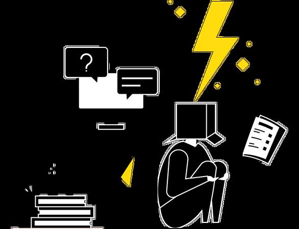 Job Stress Illustration