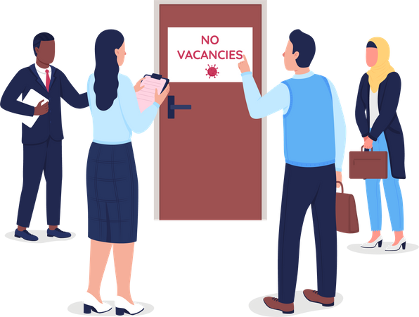 Jobless people Illustration