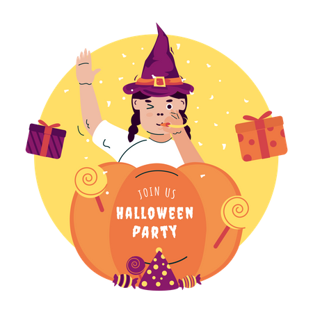 Join us for Halloween party Illustration