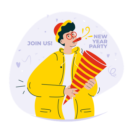 Join us for new year 2022 party Illustration