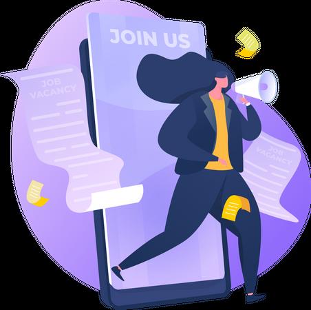 Join Us, Open Recruitment Illustration