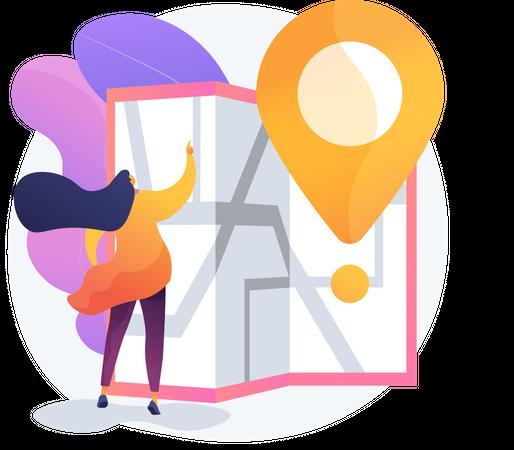Journey Route Planning Illustration