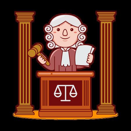 Judge Illustration