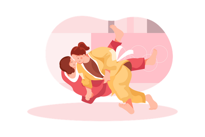 Judo fight Illustration