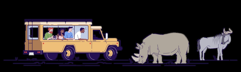 Jungle Safari Trip Illustration