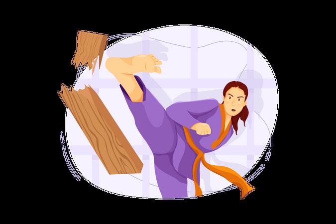 Karate fighter Illustration