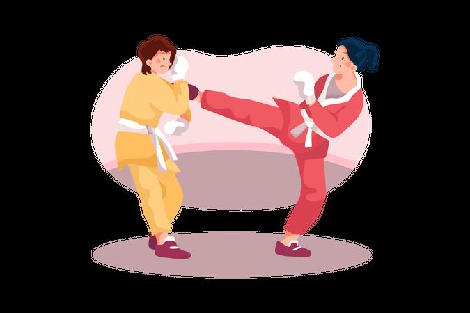 Karate game Illustration