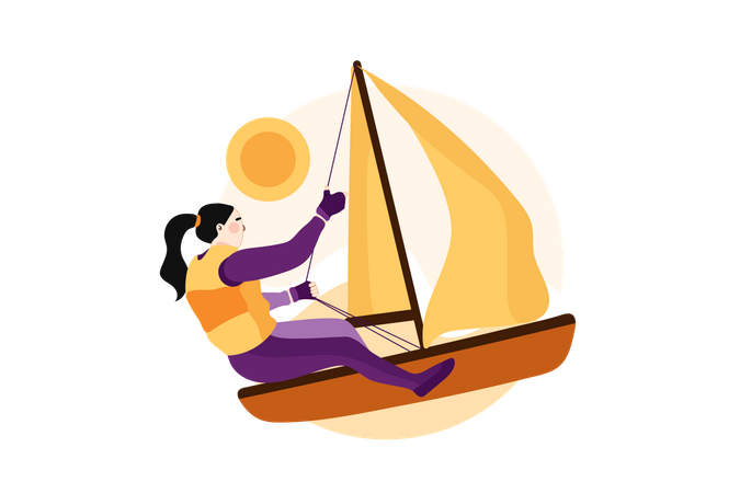 Kayak sprint Illustration