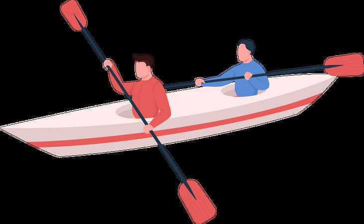 Kayakers Illustration