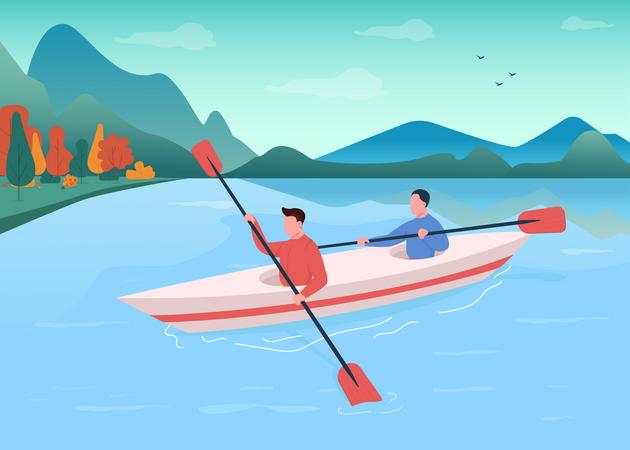 Kayaking Illustration