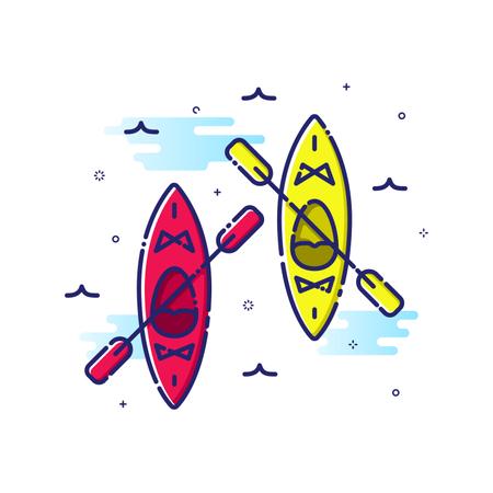 Kayaking Sport Illustration
