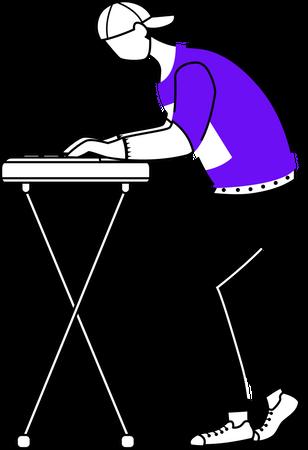 Keyboardist Illustration