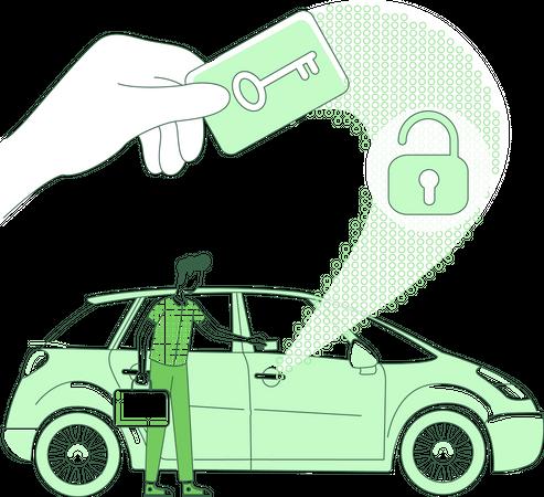 Keycard scan Illustration