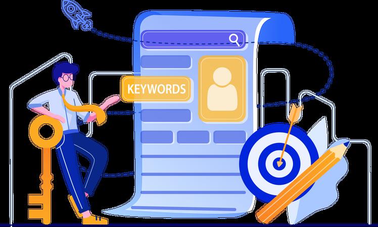 Keywords writer Illustration