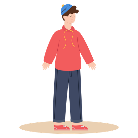 Kid with winter clothes Illustration