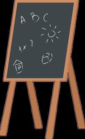 Kindergarten chalkboard Illustration