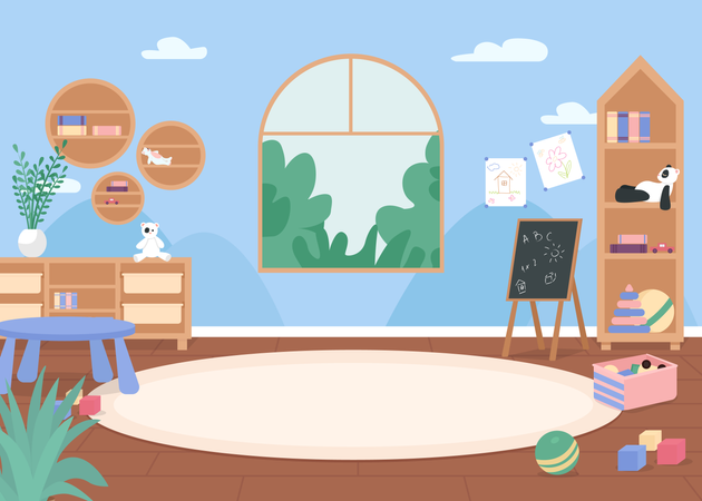Kindergarten classroom Illustration