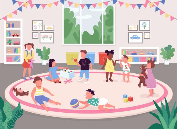 Kindergarten room Illustration