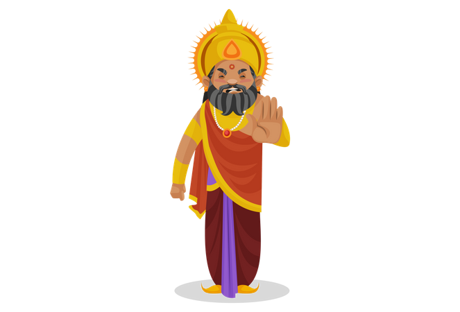 King Dhritarashtra stopping someone Illustration