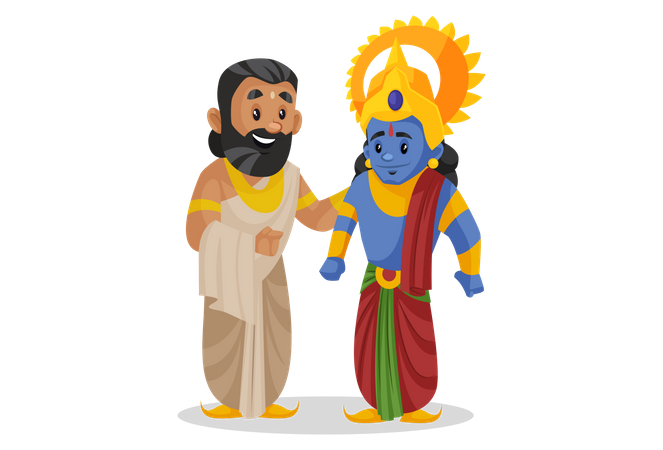 King janaka standing with lord ram Illustration