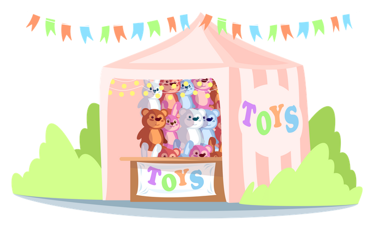 Kiosk with toys Illustration
