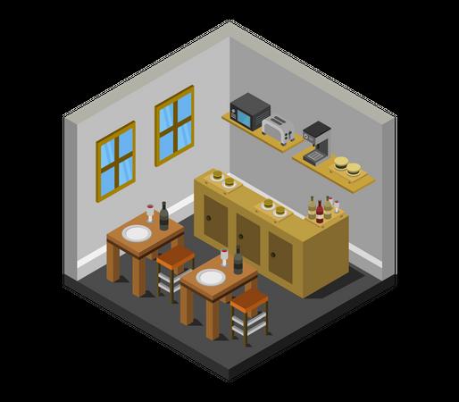 Kitchen point Illustration