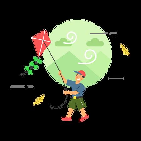Kite festival Illustration