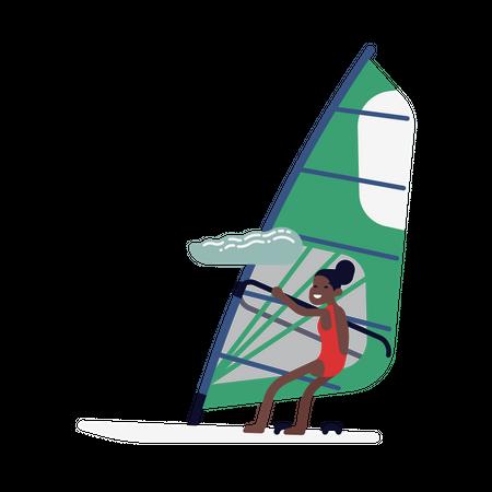 Kiteboarding Illustration