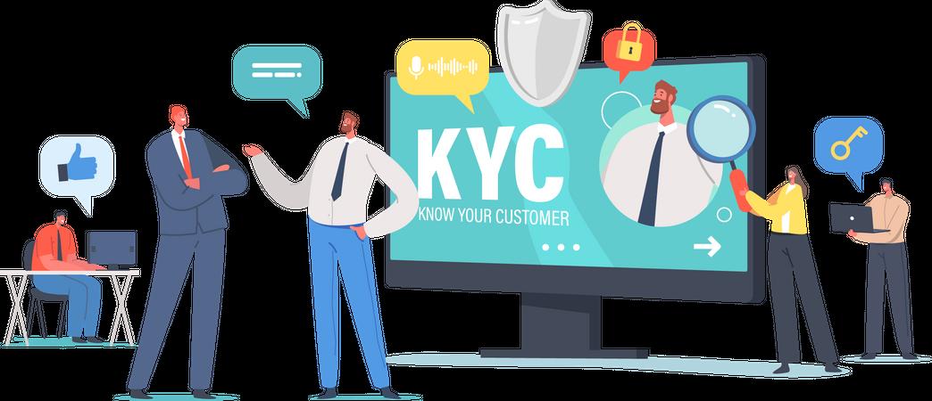 Know Your Customer Illustration