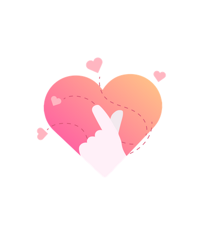 Korea finger heart vector illustration concept for web landing page template, banner, flyer and presentation Illustration