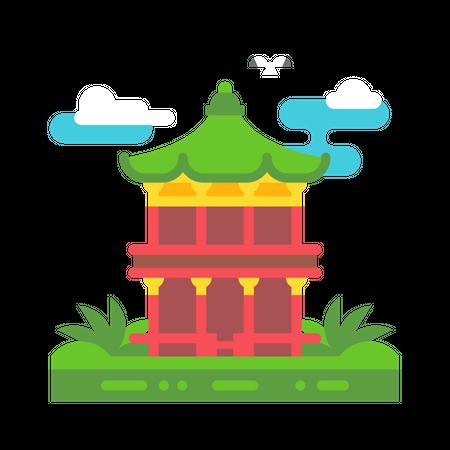 Korean building Illustration