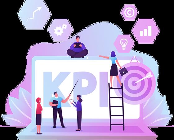 KPI Data Report Illustration