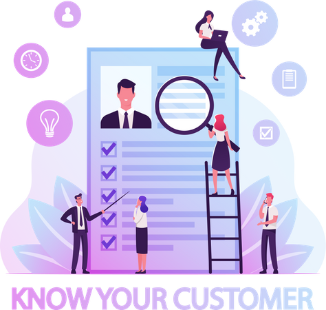 KYC or Know Your Customer Illustration