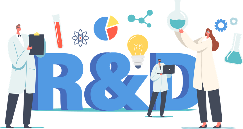 Laboratory Research and Development Illustration